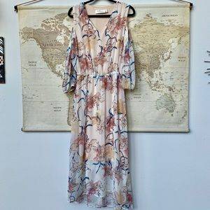 Labellum Hillary Scott cold shoulder floral dress